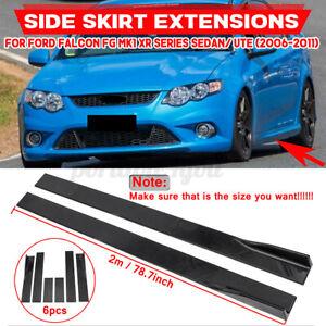 2m Side Skirt Splitter For Ford Falcon XR6/XR8 FG  MK Mustang Focus RS ST Fiesta