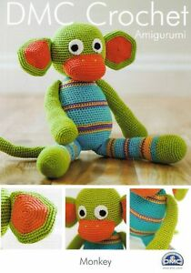 DMC Crochet Amigurumi Monkey Crochet Pattern Toy Monkey