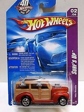 Hot Wheels 2008 Surf's Up Inter. Pack- mf Orange 40's Woodie W/Boards  MOMC