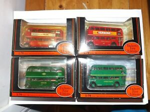 JOB LOT OF 4 EFE RT CLASS LONDON BUSES 4MM 1:76 SCALE