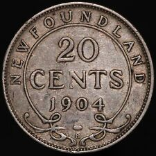1904 H | Canada Newfoundland Edward VII 20 Cents | Cupro-Nickel | KM Coins