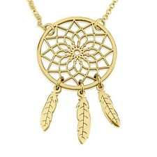 Handmade Pendant Womens Fashion Jewelry - 24k Gold Plated Dreamcatcher Necklace