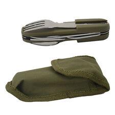Camping Hiking Spoon Fork Bottle Opener Knife Portable Pocket Folding Multi Tool