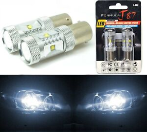 LED Light 30W PY21W White 5000K Two Bulbs Rear Turn Signal Replace Upgrade Lamp