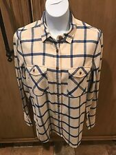 J. Crew Flannel Rockport Blue Flannel Women's Shirt Size 10