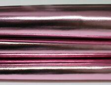 METALLIC PINK strong Italian Goatskin Goat leather skin skins 5sqf 0.8mm #A5647