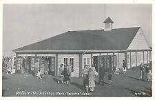 TACOMA WA – Pt. Defiance Park Pavilion Real Photo Postcard rppc