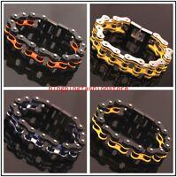 "Heavy Jewelry 316L Stainless Steel Motorcycle Chain Men's Bracelet Bangle 8.46"""
