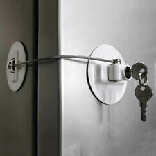 Refrigerator Door Lock with 2 Keys File Drawer Freezer Child Safety Cabinet Lock