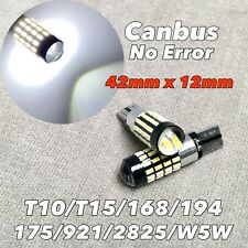Reverse Backup light CANBUS LED T10 T15 921 168 194 175 6000K White 52 Bulb W1 J