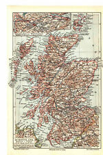 Antique map. SCOTLAND. 1905