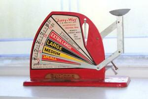 Vintage Red Jiffy Way Egg Scale