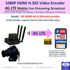 4G LTE Camera-top WiFi HDMI H.265 encoder RTMP Facebook YouTube 4 live streaming