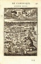 """Guyane guiana. """"fort louys's. ft louis attaquée. mallet 1683 old map"""