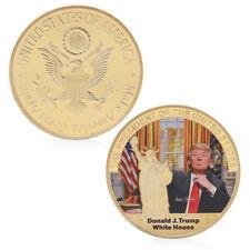 American 45th President Donald Trump White House Golden Commemorative Coins