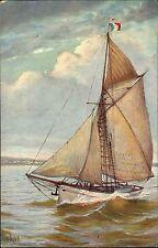 Schiffe ~1910 Marine Galerie Nr. 234 Segeljacht Frankreich Yacht Segelboot Ship