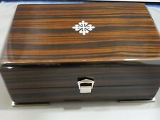 INCREDIBLE tiger wood  PATEK  PHILIPPE BOX in outer box with papers - NO WATCH