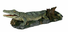 Air Action Crocodile Snapping Aquarium Ornament Moving Fish Tank Decoration