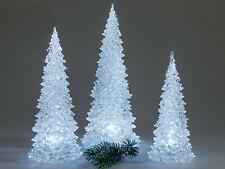 Formano LED Baum Pyramide incl Batterien Acryl mit Licht ohne Deko Bild links