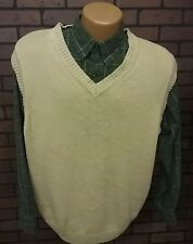 Ivy Crew Classics Sweater Vest V Neck Mens Size XL Tan 100% Cotton B4-11