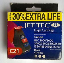 JET Tec c21 BLACK FOR CANON BJC 3000/6000 s400/i6500 upto 30% Extra Life
