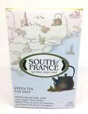 South Of France GREEN TEA French Milled Oval Soap 6 oz EXP: 04/11/2020