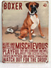 20cm metal vintage style Boxer lover gift breed character hanging sign plaque