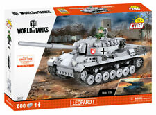 BRICKS COBI 3037 WORLD OF TANKS LEOPARD 1 SMALL ARMY 600 ELEMENT CODE WOT