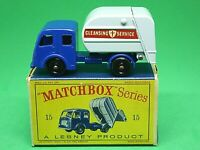 Matchbox Lesney No.15c Dennis Tippax Refuse Truck In 'D2' Series 'New Model Box