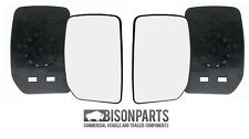 *PAIR OF DOOR WING MIRROR GLASS FORD TRANSIT MK6 MK7 00-13 RH & LH UT6713L/R