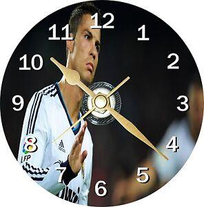 Football Cristiano Ronaldo Novelty Cd Clock Can be personalised