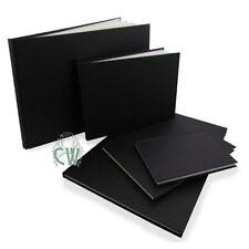 A5 Landscape Seawhite Black Cloth Hardback Sketchbook.Quality Artist Sketch Book