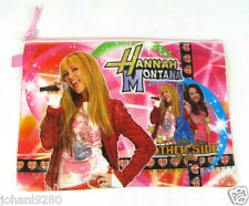 Hannah Montana, kunststof opbergtas, 2 vakken, 2 x ritssluiting, 33 x 24 cm