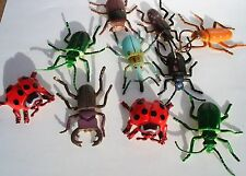"""40 2"""" SMALL  PLASTIC INSECTS. CARNIVAL OR EDUCATIONAL TOYS. PARTY FAVORS"""