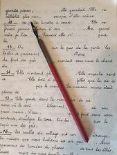"""Ancien Porte Plume bois des années 60 rouge """"LA FRANÇOISE"""" n° 101 Comet  Blanzy"""