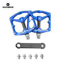 RockBros Bicycle Pedals Road Bike MTB Carbon Fiber Sealed Bearings Pedals Blue