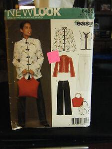 New Look 6435 Misses Jackets, Vest, Pants & Bag Pattern - Size 10 & 12