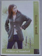 Twilley's  Ladies Jacket  Knitting Pattern In Freedom Wool  Leaflet 9085