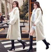 Luxury Womens Fur Full Length Parka Coat Winter Warm Outdoor Jacket Fashion