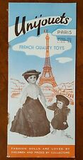 UNIJOUETS * Paris * FRENCH Quality TOYS 1952 Trade Catalog