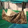Cat Soft Hammock Leopard Fur Bed Animal Hanging Cage Pet Comforter Ferret