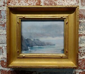 William Posey Silva -Marine Mist in a costal View of Carmel-Painting