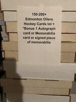 150-200 Edmonton Oilers Hockey Cards Collection Lot +1 Autograph/ Memorabilia