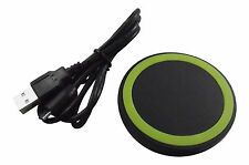 Super thin green Wireless charging circle pad QI Samsung HTC Iphones LG