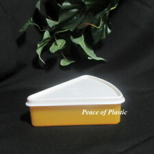 Tupperware New Individual Pie Wedge Storage Container Yellow with White Seal