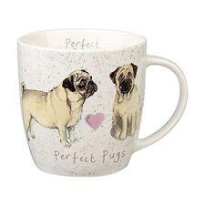 Alex Clark Fine China Squash Mug - Dog - Perfect Pugs - Full Range in Stock