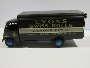 1951 DINKY SUPERTOYS GUY LYONS SWISS ROLLS VAN #514-G BLUE