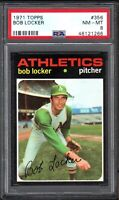 1971 TOPPS #356 BOB LOCKER OAKLAND ATHLETICS PSA 8 NM/MT