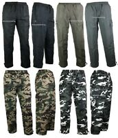 New Mens Thermal Lined Trousers Plain Camo Joggers Pattern pants Fleece Bottom a