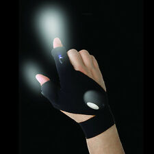 Strap Fingerless Glove LED Flashlight Torch Cover Survival Rescue Tool CA-762